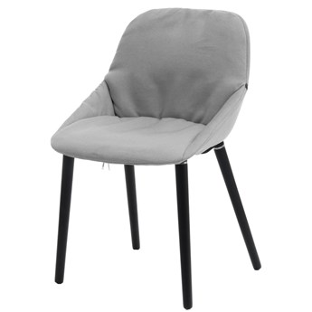 SELSEY Krzesło tapicerowane Sofie jasnoszare