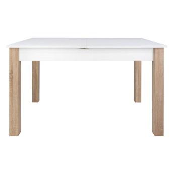 SELSEY Stół rozkładany Eagor 125-165x80 cm biel alpejska - dąb sonoma