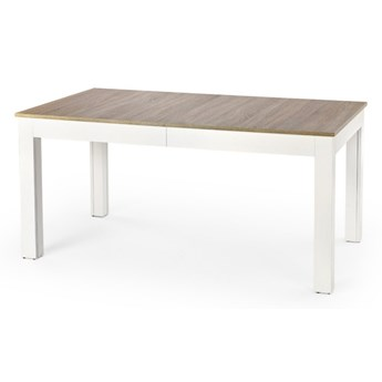 SELSEY Stół rozkładany Pera 160-300x90 cm biały-dąb sonoma