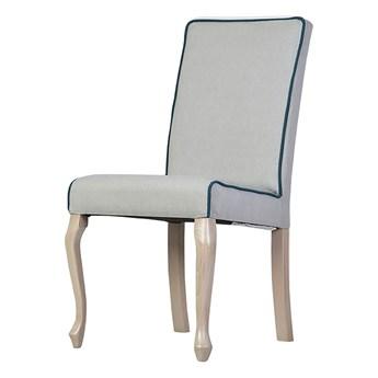 SELSEY Krzesło tapicerowane Epoli z lamówką i prostym zwieńczeniem