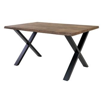 SELSEY Stół Lemucto 140x95 cm dąb olejowany dymiony