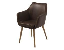 SELSEY Krzesło Marcelio ciemny brąz