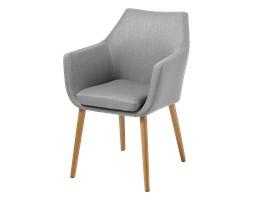 SELSEY Krzesło Marcelio jasnoszare