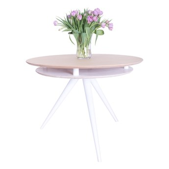 SELSEY Stół Miluzza z podwójnym blatem średnica 105 cm