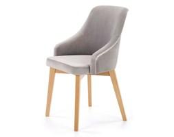 SELSEY Krzesło Berlas szary velvet - dąb miodowy