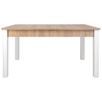 SELSEY Stół rozkładany Eagor 125-165x80 cm  zaokrąglonymi rogami dąb sonoma - biały