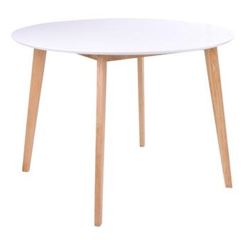 SELSEY Stół Bignus średnica 105 cm na drewnianej podstawie