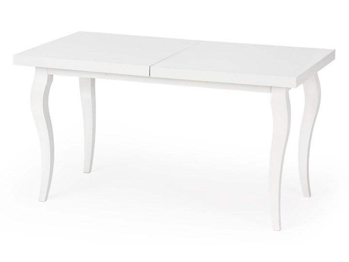 SELSEY Stół rozkładany Acapella 140-180x80 cm Wysokość 75 cm Długość 140 cm  Płyta MDF Drewno Długość 180 cm  Kolor Biały Styl Nowoczesny