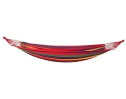 Hamak jednoosobowy 200x80cm bujak ogrodowy 150kg kolorowe pasy