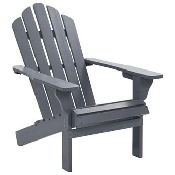 VidaXL Fotel ogrodowy, drewniany, szary