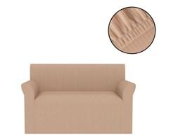 VidaXL Elastyczny pokrowiec na sofę, prążkowany, beżowy