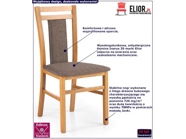 Krzesło drewniane Thomas - olcha Styl Skandynawski Szerokość 45 cm Drewno Wysokość 90 cm Kolor Biały
