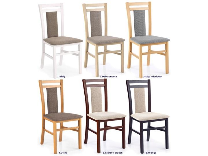 Drewniane krzesło tapicerowane Thomas - Wenge Wysokość 90 cm Tkanina Szerokość 45 cm Kolor Biały Drewno Kolor Brązowy