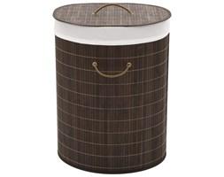 Bambusowy kosz na pranie owalny, ciemnobrązowy kolor kod: V-242728