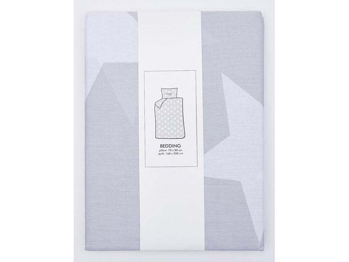 Sinsay - Komplet pościeli z bawełny 160x200cm - Jasny szary