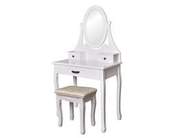 Toaletka kosmetyczna z lustrem taboret 3 szuflady