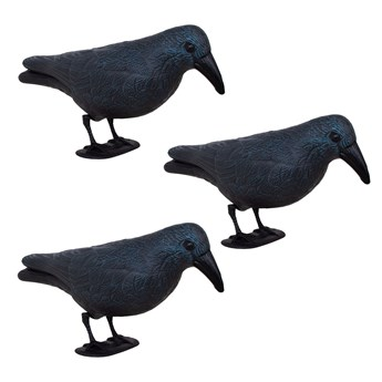 Odstraszacz ptaków 11x39x18,5cm stojący kruk granatowo-czarny zestaw 3 szt.