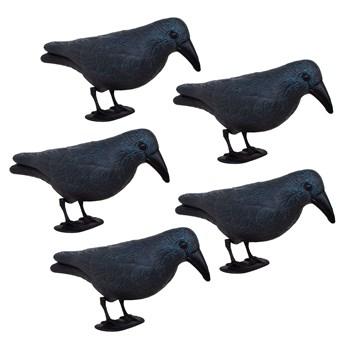 Odstraszacz ptaków 11x39x18,5cm stojący kruk granatowo-czarny zestaw 5 szt.
