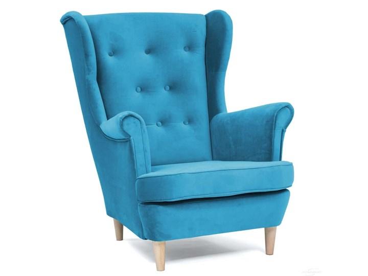 Fotel z podnóżkiem USZAK 3 / kolory do wyboru Szerokość 74 cm Fotel uszak Wysokość 103 cm Drewno Pomieszczenie Salon