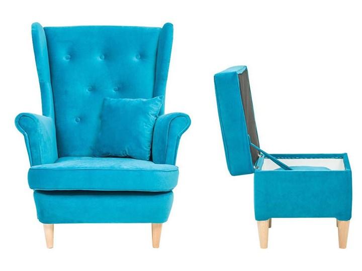 Fotel z podnóżkiem USZAK 3 / kolory do wyboru Drewno Fotel uszak Szerokość 74 cm Wysokość 103 cm Pomieszczenie Salon