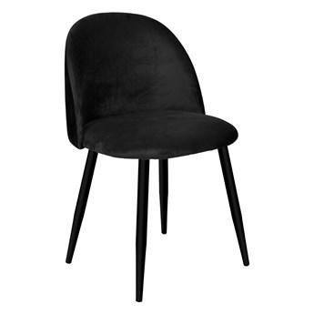 Krzesło tapicerowane Soul Velvet czarny