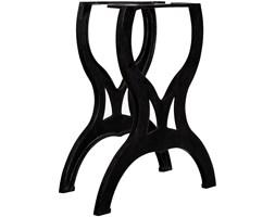 VidaXL Nogi do stołu jadalnianego, 2 szt., kształt litery X, żeliwo