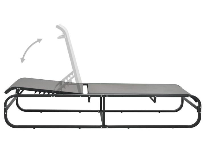 vidaXL Leżak, aluminium i tworzywo textilene Z regulowanym oparciem