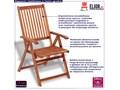 Drewniane krzesła ogrodowe Pasadena 2 szt Krzesło składane Drewno Krzesło z podłokietnikami Kolor Brązowy Styl Rustykalny