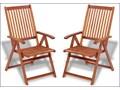 Drewniane krzesła ogrodowe Pasadena 2 szt Krzesło składane Drewno Krzesło z podłokietnikami Kolor Brązowy