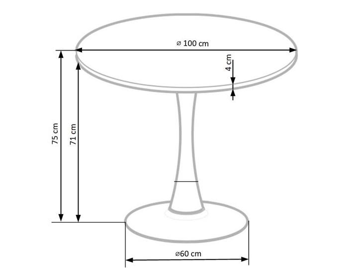 Nowoczesny okrągły stół Forset - orzechowy