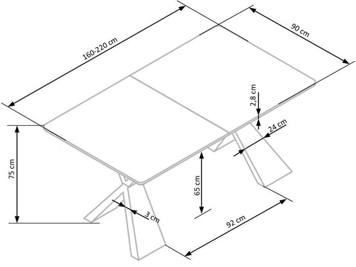 Loftowy stół rozkładany Eden - dąb naturalny Wysokość 75 cm Drewno Szerokość 90 cm Długość 220 cm Długość 90 cm  Kształt blatu Prostokątny