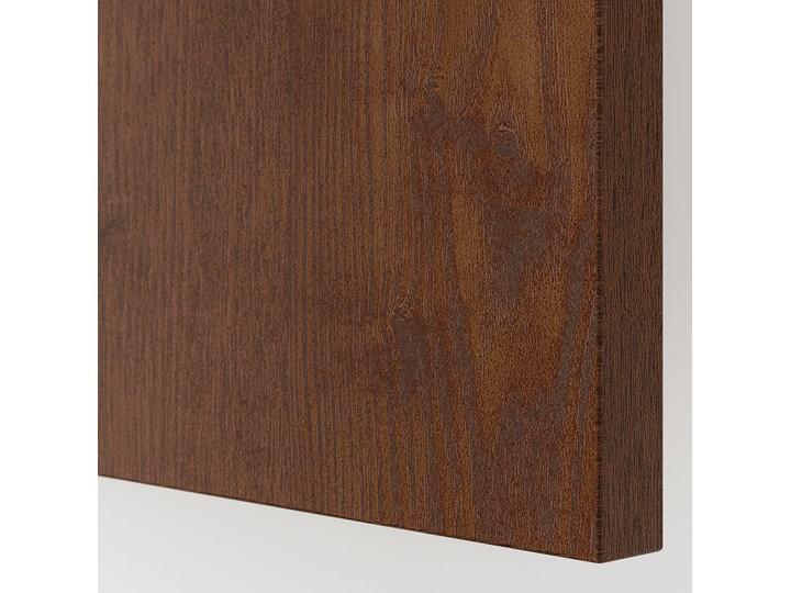 IKEA PAX Szafa, Hasvik/imitacja okleiny bejc na brąz, 150x66x201 cm Płyta laminowana Lustro