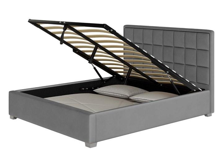 ŁÓŻKO TAPICEROWANE DO SYPIALNI 160X200 SFG074 WELUR POPIEL Kategoria Łóżka do sypialni Rozmiar materaca 160x200 cm