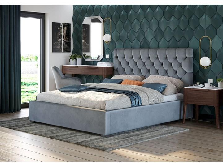 ŁÓŻKO TAPICEROWANE DO SYPIALNI 160X200 SFG069 POPIEL WELUR Rozmiar materaca 160x200 cm Kategoria Łóżka do sypialni