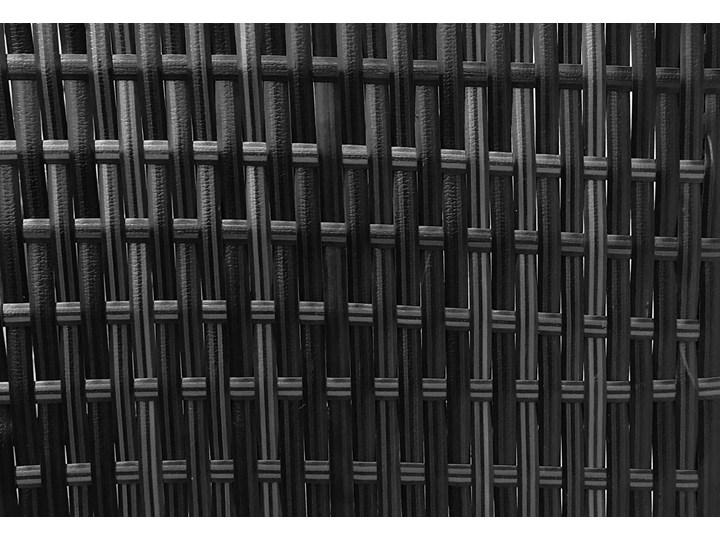 Meble ogrodowe - 1090 CZARNE - zestaw z technorattanu dla 7 osób Zestawy wypoczynkowe Kolor Szary Zawartość zestawu Fotele