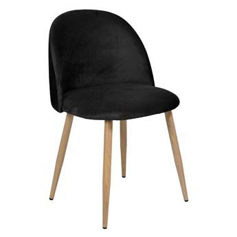 Krzesło tapicerowane Jazz Velvet czarny