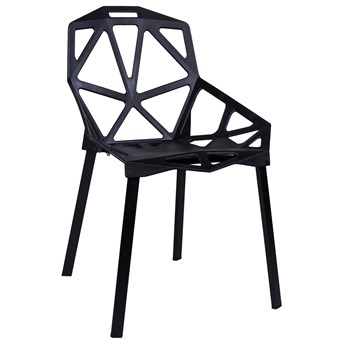 Krzesło ażurowe VECTOR czarne