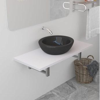 VidaXL Mebel łazienkowy, biały, 90 x 40 x 16,3 cm