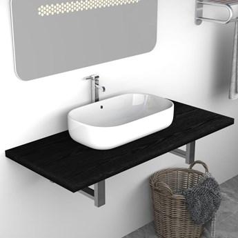 VidaXL Mebel łazienkowy, czarny, 90 x 40 x 16,3 cm