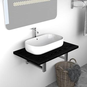 VidaXL Mebel łazienkowy, czarny, 60 x 40 x 16,3 cm