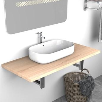 VidaXL Mebel łazienkowy, dąb, 90 x 40 x 16,3 cm