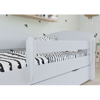 Łóżko dla dziecka z barierką Happy 2X 80x160 - białe