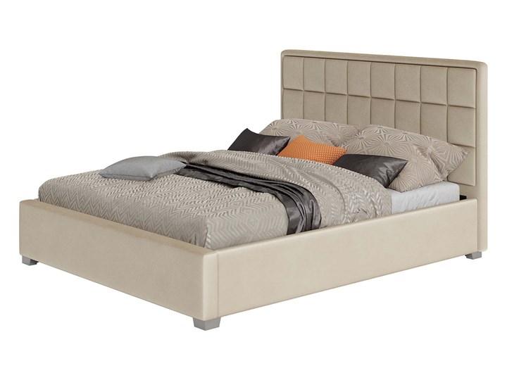 Łóżko 160x200 z materacem • SFG074 • welur, beż