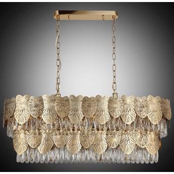Designerska lampa nad stół złoty żyrandol 1477-80-21-L POSITANO SALON SYPIALNIA JADALNIA HOTEL LUCEA