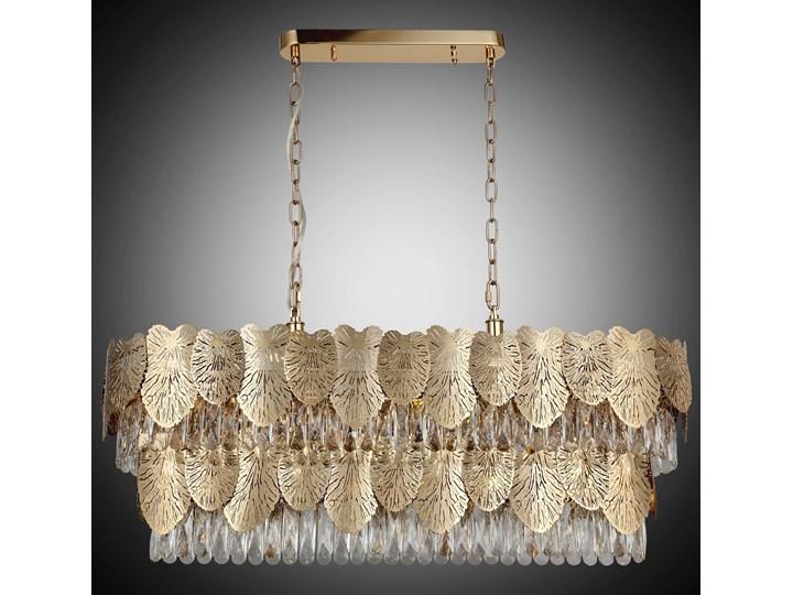 Designerska lampa nad stół złoty żyrandol 1477-80-21-L POSITANO SALON SYPIALNIA JADALNIA HOTEL LUCEA Metal Ilość źródeł światła 1 źródło
