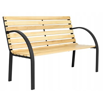 Ławka ogrodowa stalowo- drewniana ANNA