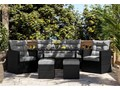 MEBLE OGRODOWE DLA 7 OSÓB RATTAN 1090 CZARNY Zawartość zestawu Fotele Zestawy obiadowe Zestawy wypoczynkowe Kategoria Zestawy mebli ogrodowych