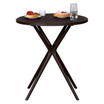 Stół plastikowy Coffee Time, ciemny brąz