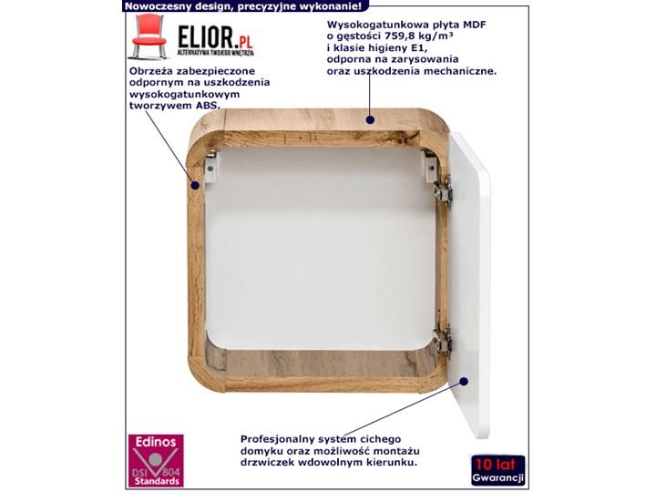 Wisząca kwadratowa szafka łazienkowa Borneo 2X - biały połysk Szerokość 35 cm Rodzaj frontu Drzwiczki Wysokość 35 cm Szafki Wiszące Kategoria Szafki stojące