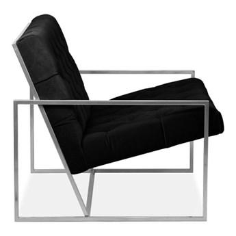 Fotel Pedro pikowana czarny mat